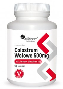 COLOSTRUM WOŁOWE IG 40% 500 mg x100 kaps. Aliness